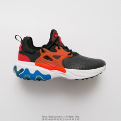 AV2605-006 nike presto react undercover legs leather upper jogging shoe