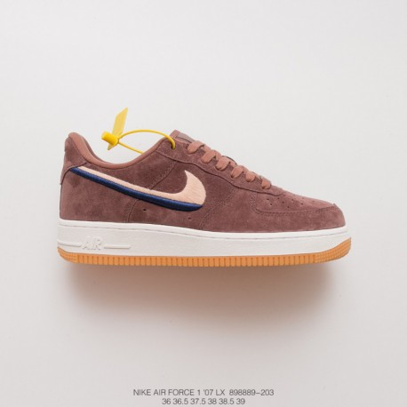 wholesale dealer 49bac 12e67 Nike Air Force 1 Suede Tan,Tan Suede Nike Air Force 1,889-203 Nike Womens  AIRFORCE 1 07 LX Tan Suede Embroidery