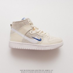 Ah9613-141 Soulland X Nike SB FRI.day 0.2 HIGH High Dunk All-Match skate shoes double off white blu