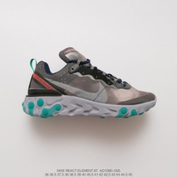 Aq1090-005 UNDERCOVER X Nike Upcoming React Element 87 Reaction Element Translucent Avant-Garde jogging shoe