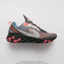 Aq1090-006 UNDERCOVER X Nike Upcoming React Element 87 Reaction Element Translucent Avant-Garde jogging shoe