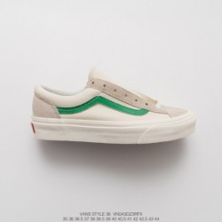 Vans Vault OG Style 36 Classic Vintage Low Skate Shoes Campus Off-white Green Style Code: VNOA 3DZ3RF