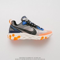 Aq1090-004 UNDERCOVER X Nike Upcoming React Element 87 Reaction Element Translucent Avant-Garde jogging shoe