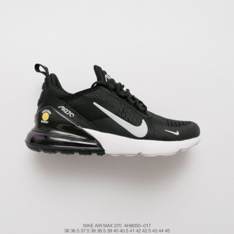 online store 3c926 173bd Ah8050-017 nike air max 270 seat half palm air jogging shoes black and white