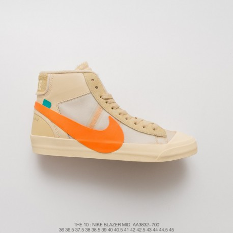 Aa3832-700 Virgil Abloh Designer Independent Brand Crossover OFF-White X Nike  Blazer Mid 19b79ff56