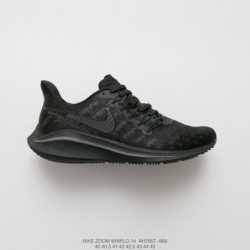 Ah7857-900 Nike Air Zoom Vomero 14th Generation Marathon Cable Cushioning Movement Trainers Shoes Whole Blac