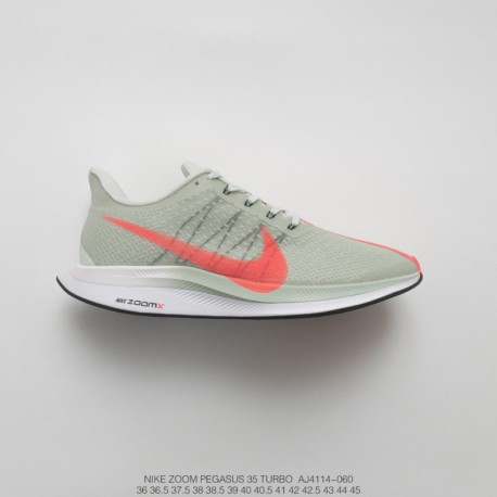ff470031efb Aj4114-060 Nike Zoom Pegasus Turbo 35th Generation Turbo Marathon Jogging  Shoes Mint Fluorescent Vermilio
