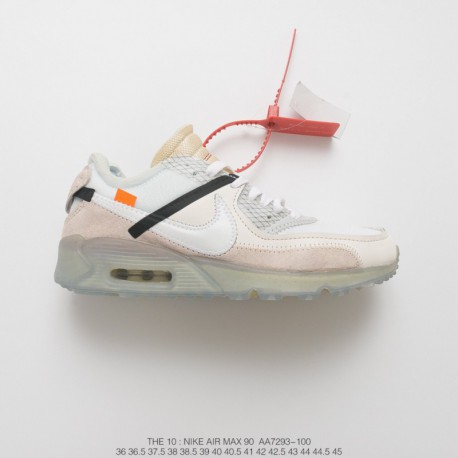 quality design 99e6c 254ef Nike The 10 Air Max 90 Off White Aa7293 100,Nike Off White Air Max 90  Ice,AA7293-100 Virgil Abloh Designer Independent brand OF