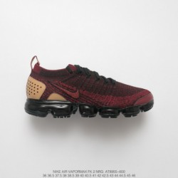 At8655-600 Nike Air VaporMax Flyknit 2.0 Nrg II Air Max All-Match jogging shoes wine bred light brow