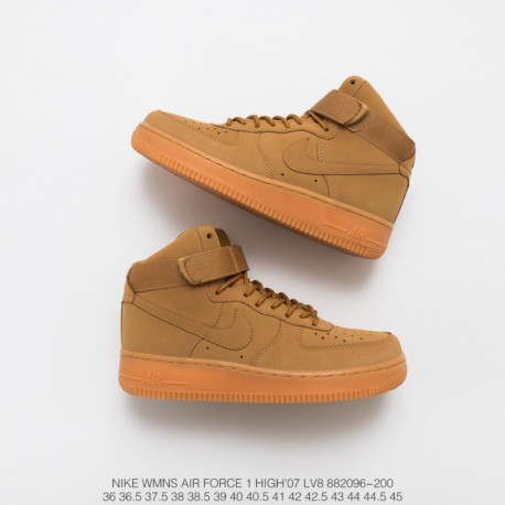 buy online 233a1 bfd0c Nike Air Force 1 High Flax Wheat,Nike Air Force 1 High Lv8 Wheat,096 200  Air Force High Wheat Rhubarb Boots The same style Nike