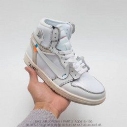 Aq0818-100 jordan/ Limited Edition OFF WHITE Joe 1 Aj1 Original Super Crossover White Classi