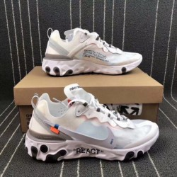 Nike React Element 87 X Off White Crossover Undercover Jogging Shoes Aq0068-10