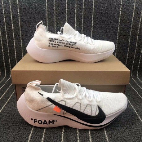 1222dd193faec Nike Vapor Street Flyknit X OFF WHITE Crossover Marathon Racing Shoes  Aq1763-10