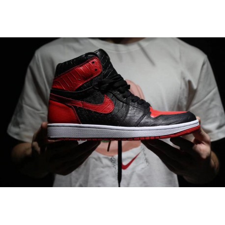 official photos 9febe 20702 Air jordan 1 jordan aj1 lightning dragon scale bred premium upper leathe