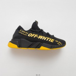 19 Hong Kong Style Original OFF-White style paris low socks shoes speed stretch-Knit sock trainer set foot all-Match jogging sh