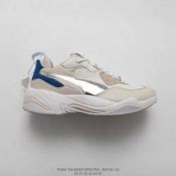 367516-03 29 Mens Premium PUMA Thunder Spectra Electric Shock Vintage Dad Sneaker Breathable Leather Jogging Shoes Off-White el