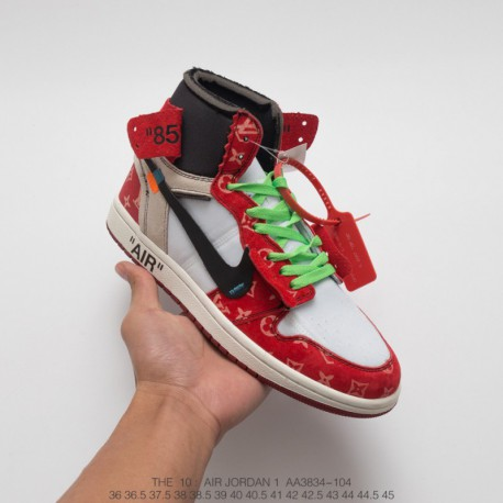 wholesale sales newest collection official site Replica Off White Jordan 1,Off White Jordan 1 Replica,AA3834-104  Jordan/OFF-WHITE x Air Jordan x LV Jordan AJ1 Generation Tripa