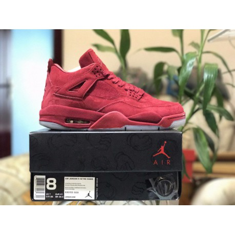 3b50ba621a9473 Factory Lacing Level KAWS X Air Jordan 4 KAWS Super Crossover Night Light  Sole Luxury Red
