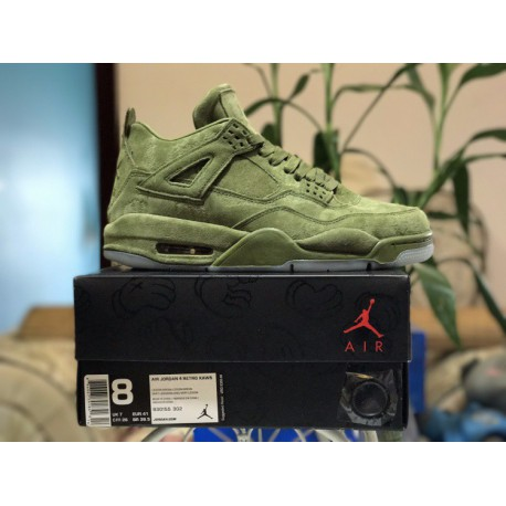 the best attitude 02357 00bc8 Green Air Jordan 4,Air Jordan 4 Green,Factory Lacing Level KAWS x Air  Jordan 4 KAWS Super Crossover Night Light Sole Luxury Gre