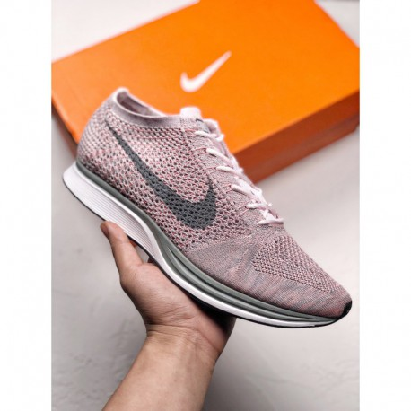 628 604 nike flyknit racer lightweight with oversized mesh flyknit textile fabric for super breathable fee